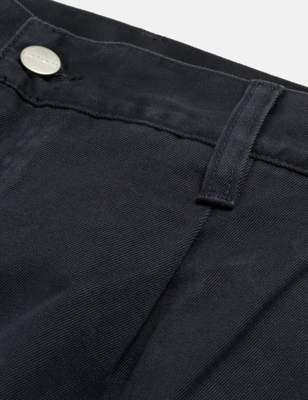 Carhartt-WIP Abbott Pant 'Millington Twill' (Tapered Fit) - Dark Navy Blue Stone Washed