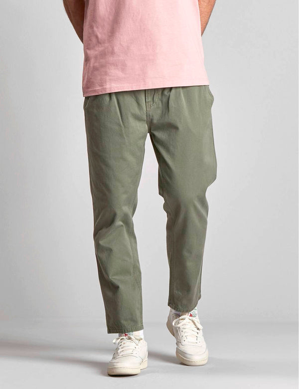 Carhartt-WIP Abbott Pant 'Millington Twill' (Tapered Fit) - Dollar Green Stone Washed