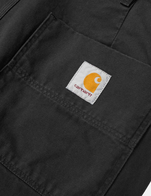 Carhartt-WIP Abbott Pant 'Millington Twill' (Tapered Fit) - Black Stone Washed