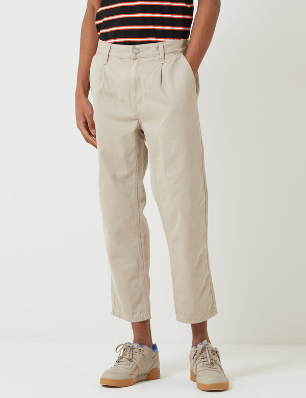 Carhartt-WIP Abbott Pant 'Millington Twill' (Tapered Fit) - Wall Sand Stone Washed