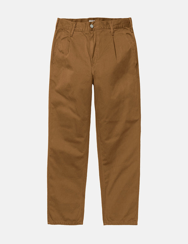 Carhartt-WIP Abbott Pant 'Millington Twill' (Tapered Fit) - Hamilton Brown stone délavé