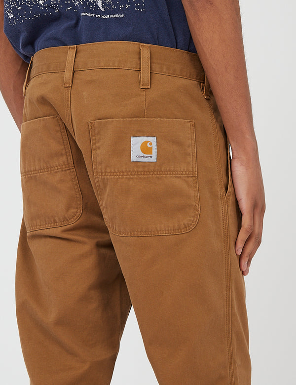 Carhartt-WIP Abbott Pant 'Millington Twill' (Tapered Fit) - Hamilton Brown stone washed
