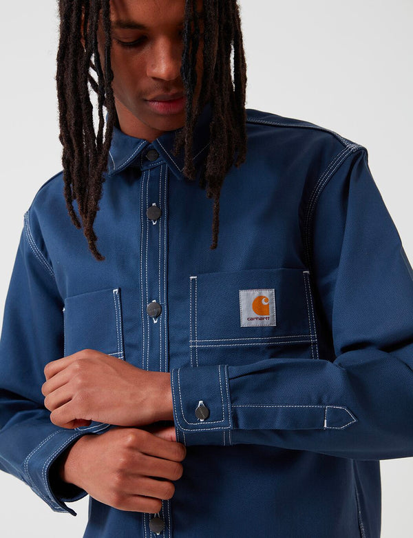 Carhartt-WIP Chalk Shirt Jacket (Regular Fit) - Blue Rigid