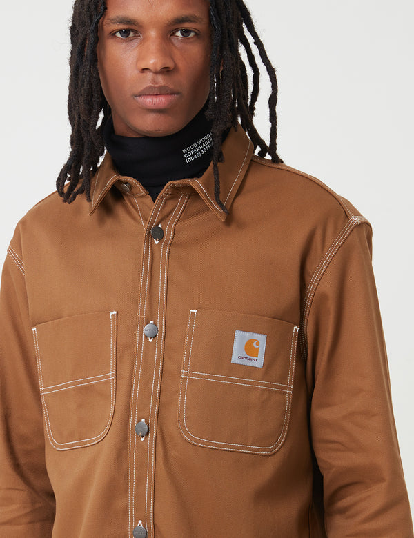Carhartt-WIP Chalk Shirt Jacket (Regular Fit) - Hamilton Brown