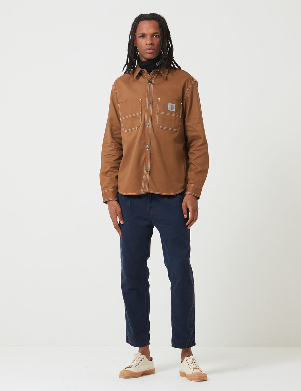 pretty nice big sale retail prices Carhartt-WIP Chalk Shirt Jacket (Regular Fit) - Hamilton Brown