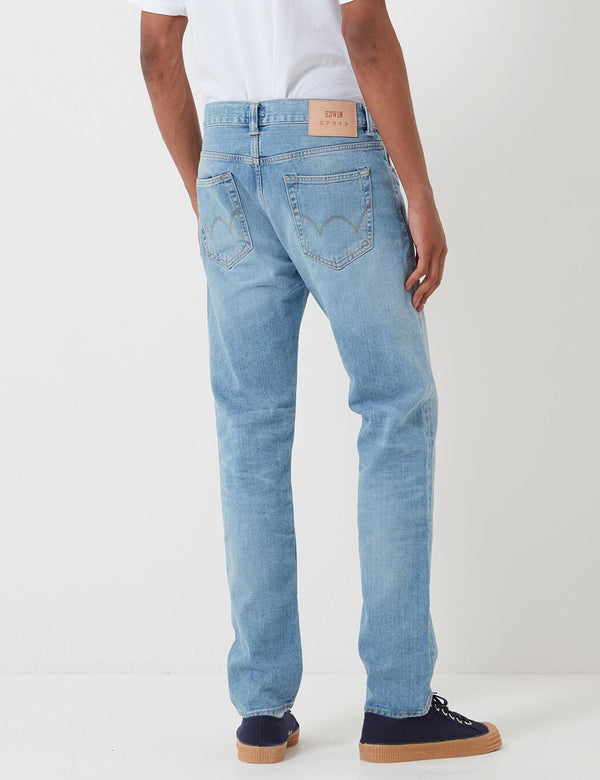 Edwin ED-80 Schlanke Tapered Jeans - Blau, Arisu Wash