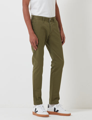 Edwin ED-55 Chino (Regular Tapered) - Military Green Rinsed