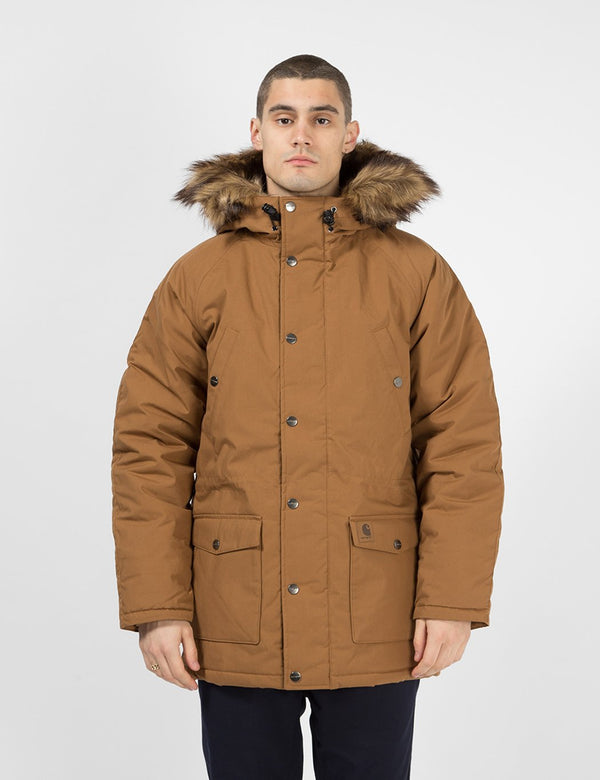 Carhartt-WIP Trapper Parka - Hamilton Brown / Black