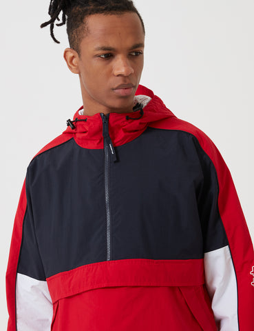 Carhartt Terrace Pullover Jacket - Dark Navy/Cardinal Red