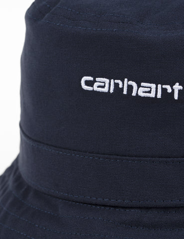 Carhartt Script Bucket Hat - Dark Navy Blue