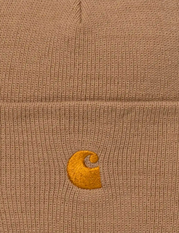 Carhartt-WIP Chase Beanie - Dusty Hamilton Brown/Gold