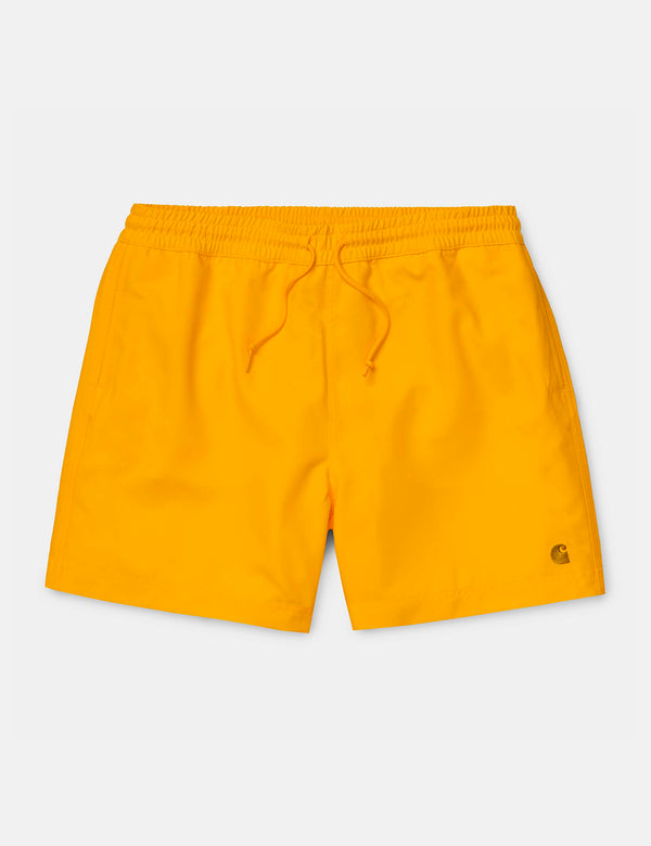 Carhartt-WIP Chase Swim Shorts - Sunflower Yellow