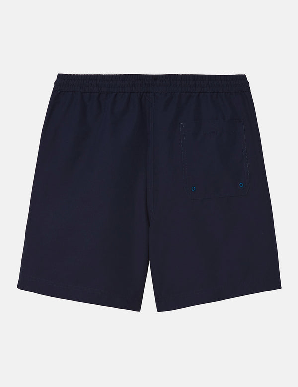 Carhartt-WIP Chase Swim Shorts - Dark Navy Blue
