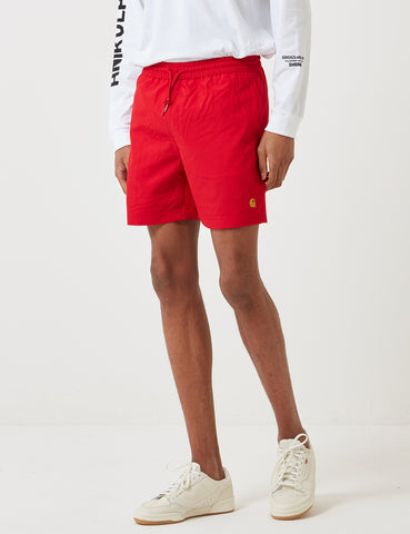 Carhartt-WIP Chase Swim Shorts - Cardinal Red