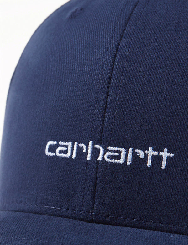 Carhartt-WIP Script Cap (Brushed Twill) - Dark Navy Blue