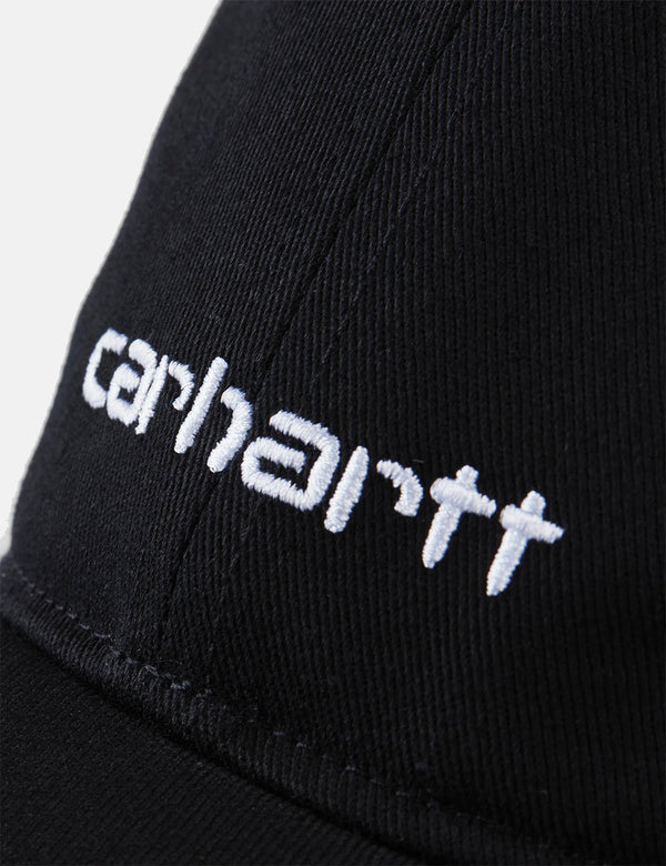 Carhartt-WIP Script Cap (Brushed Twill) - Black