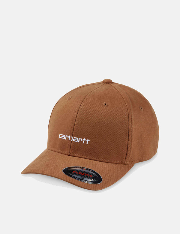 Carhartt-WIP Script Cap (Brushed Twill) - Hamilton Brown