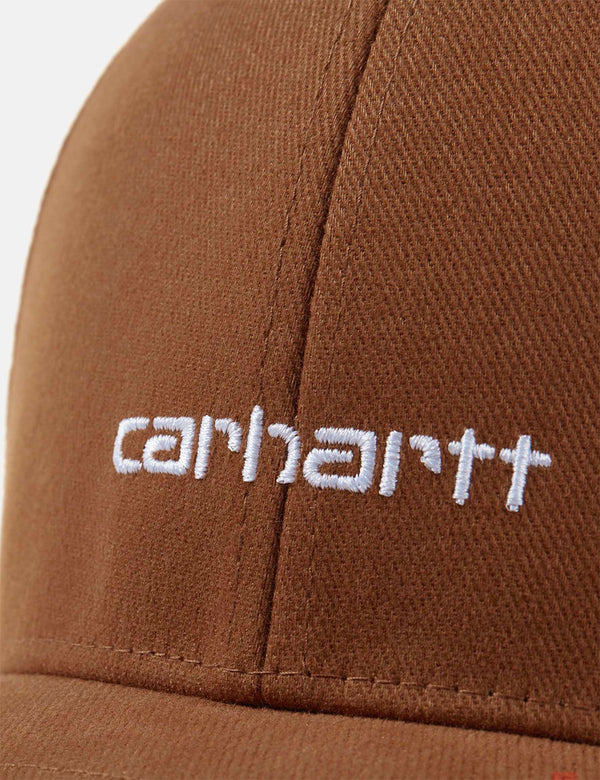 Casquette Carhartt-WIP Script (Brushed Twill) - Hamilton Brown