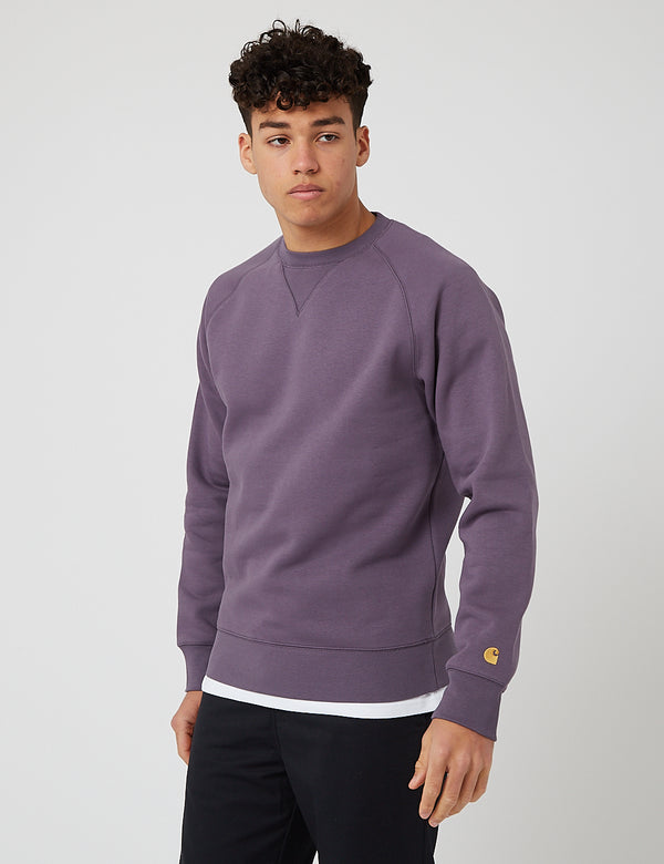 Carhartt-WIP Chase Sweatshirt - Provence/Gold