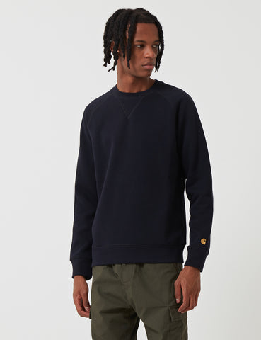 Carhartt Chase Sweatshirt - Dark Navy Blue