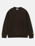 Carhartt Chase Sweatshirt - Tobacco Brown