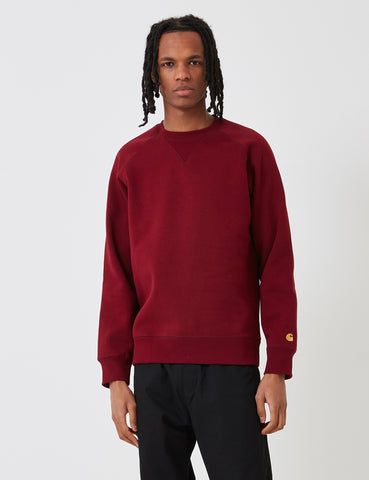 Carhartt Chase Sweatshirt - Cranberry Red