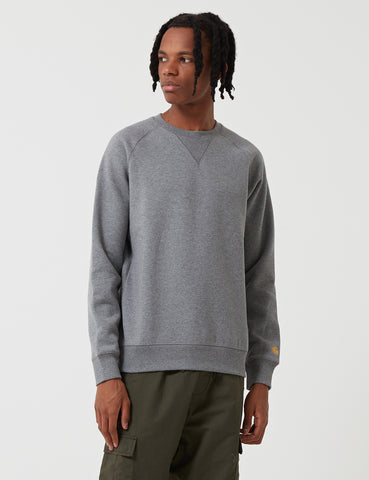 Carhartt Chase Sweatshirt - Dark Grey Heather