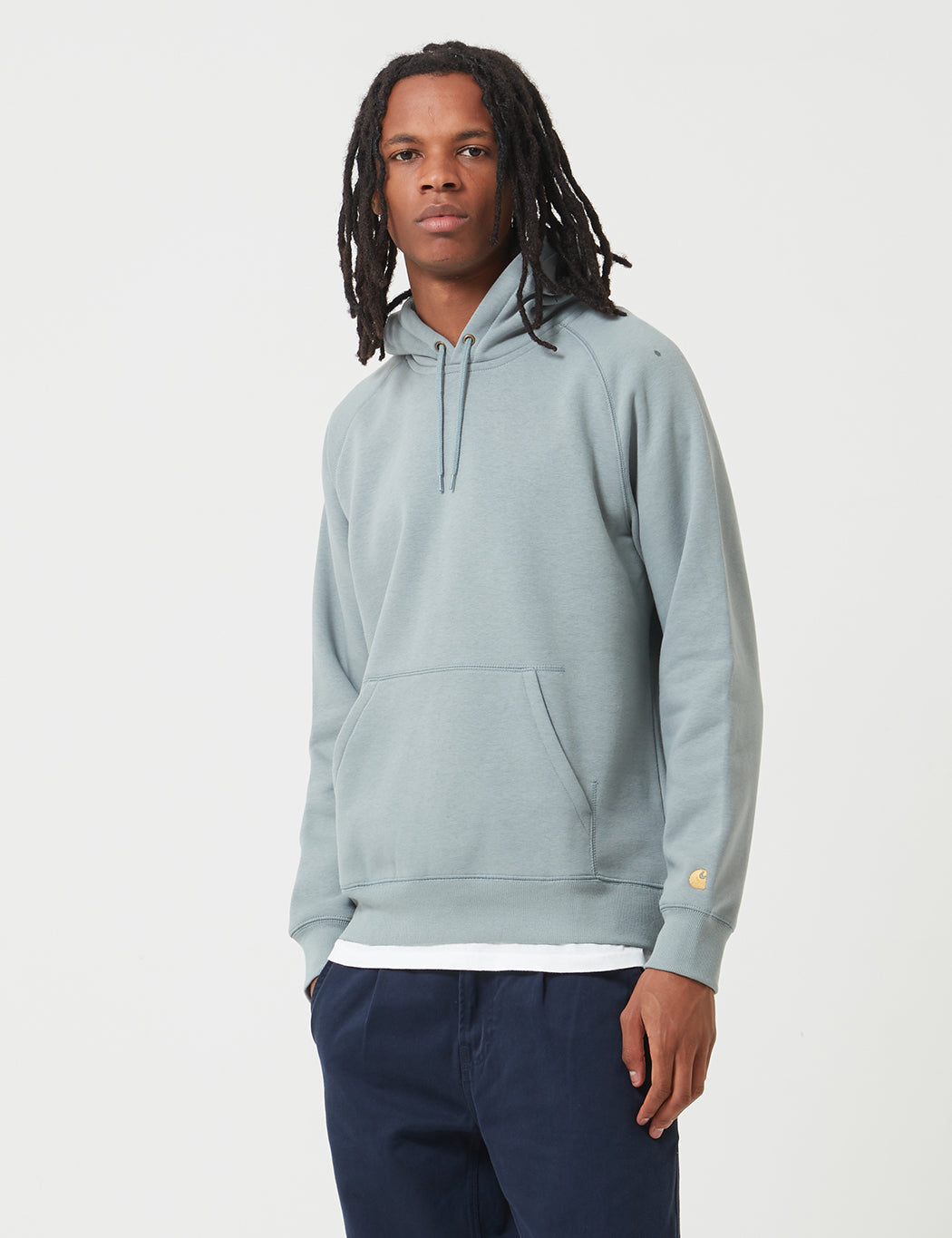 Carhartt-WIP Chase Hooded Sweatshirt - Cloudy White