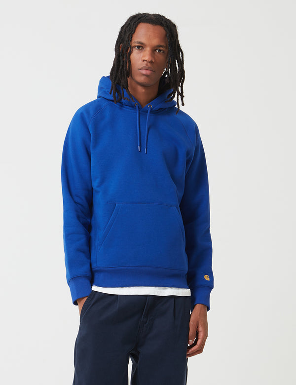 Carhartt-WIP Chase Hooded Sweatshirt - Thunder Blue