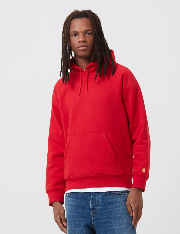 Carhartt-WIP Chase Hooded Sweatshirt - Etna Red