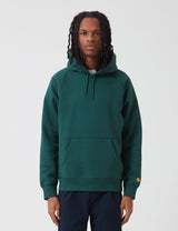 Carhartt-WIP Hooded Chase Sweatshirt - Treehouse/Gold