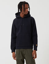 Carhartt-WIP Chase Hooded Sweatshirt - Dark Navy Blue