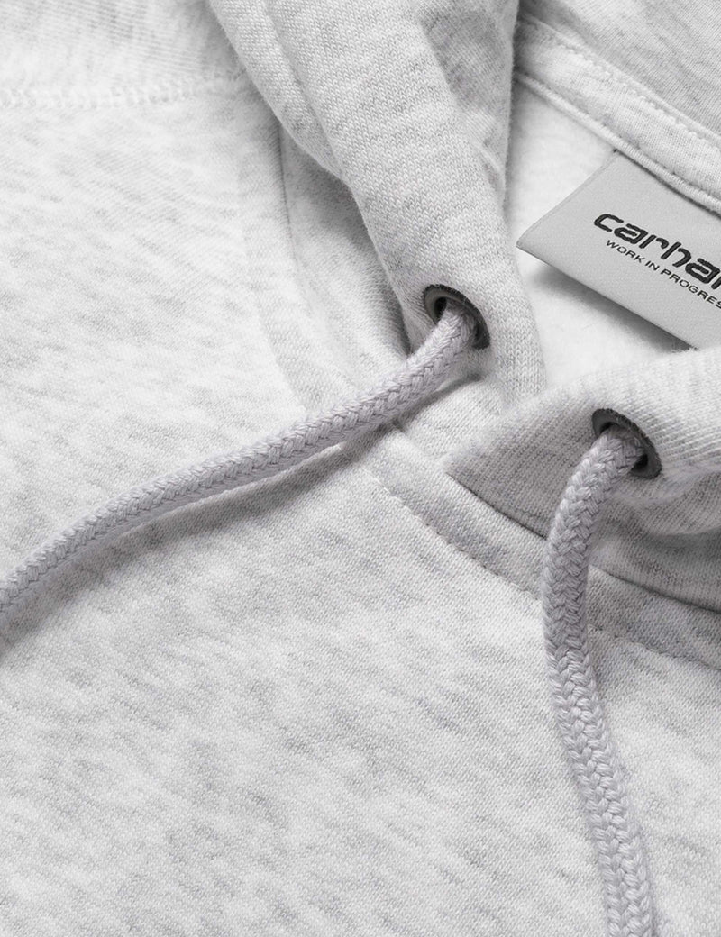 Carhartt-WIP Chase Hooded Sweatshirt - Ash Heather Grey