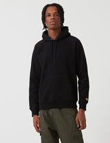 Carhartt-WIP Chase Hooded Sweatshirt - Black