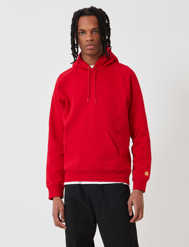 Carhartt Chase Hooded Sweatshirt - Cardinal Red