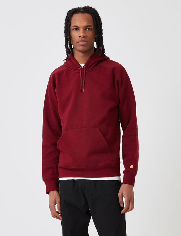 Carhartt-WIP Chase Hooded Sweatshirt - Cranberry Red