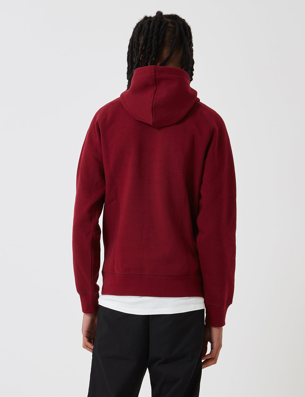 Carhartt Chase Hooded Sweatshirt - Cranberry Red