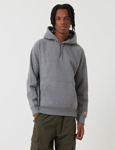 Carhartt Chase Hooded Sweatshirt - Dark Grey Heather