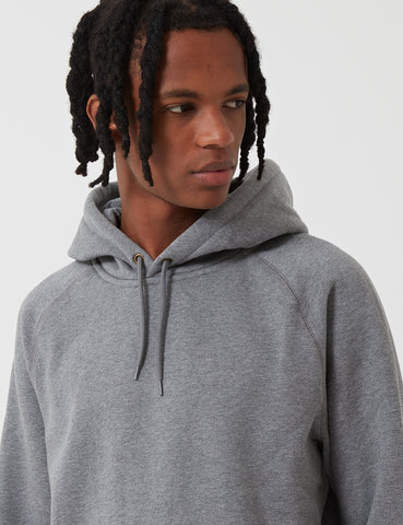 Carhartt-WIP Chase Hooded Sweatshirt - Dark Grey Heather