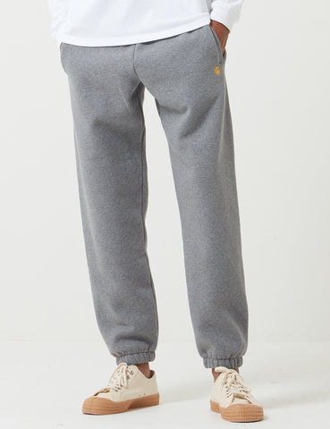 Carhartt-WIP Chase Sweat Pant - Dark Grey Heather