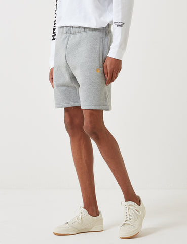 Carhartt-WIP Chase Sweat Shorts - Grey Heather