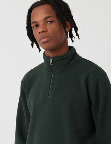 Carhartt Chase Quarter-Zip High Neck Sweatshirt - Loden Green