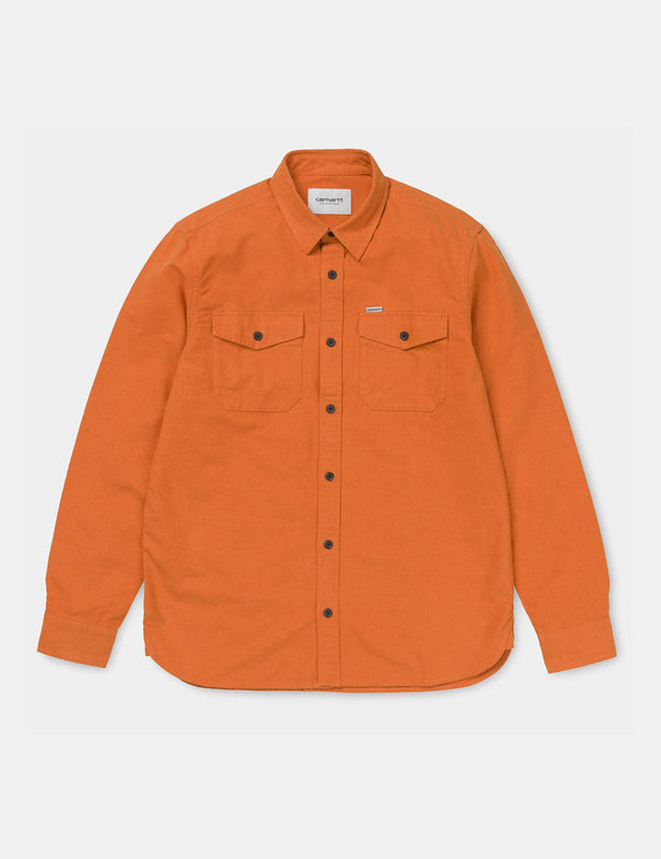 Carhartt-WIP Vendor Shirt - Persimmon Heather Orange