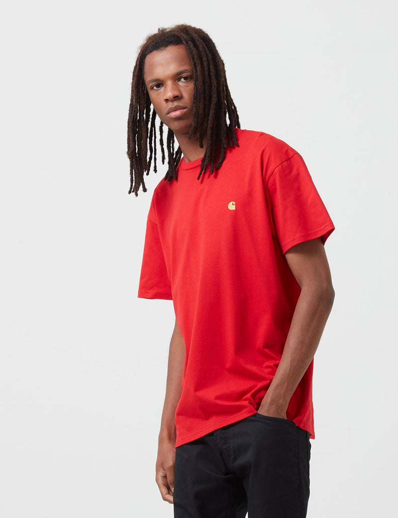 Carhartt-WIP Chase T-Shirt - Etna Red