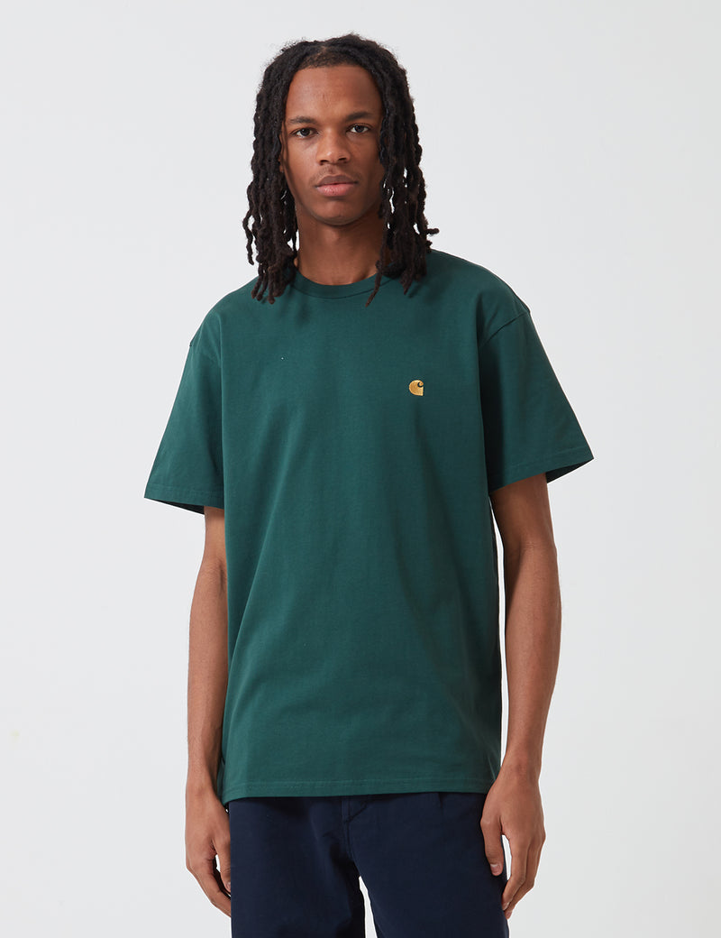 Carhartt-WIP Chase T-Shirt - Treehouse Green