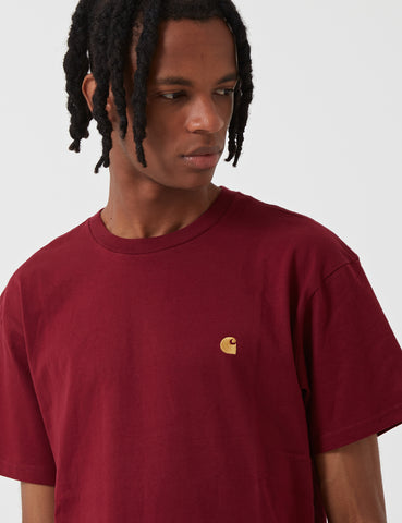 Carhartt Chase T-Shirt - Mulberry Burgundy