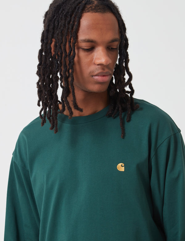 Carhartt-WIP Chase Long Sleeve T-Shirt - Treehouse Green