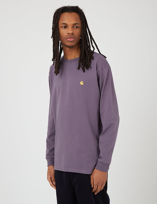 Carhartt-WIP Chase Long Sleeve T-Shirt - Provence/Gold