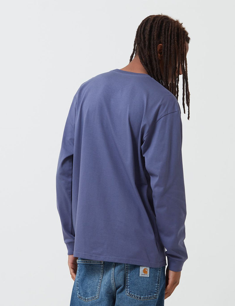Carhartt-WIP Chase Long Sleeve T-Shirt - Cold Viola/Gold