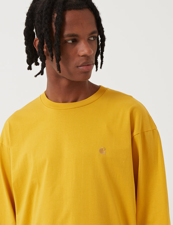 Carhartt-WIP Chase Long Sleeve T-Shirt - Quince Yellow